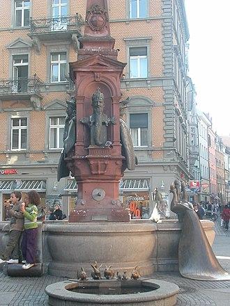 Hans Baur (sculptor) - Image: Kaiserbrunnen Konstanz 5634