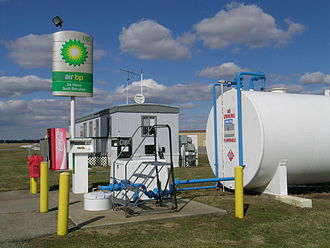 Air BP - A self-service Air BP fueling station at the Kalamazoo/Battle Creek International Airport