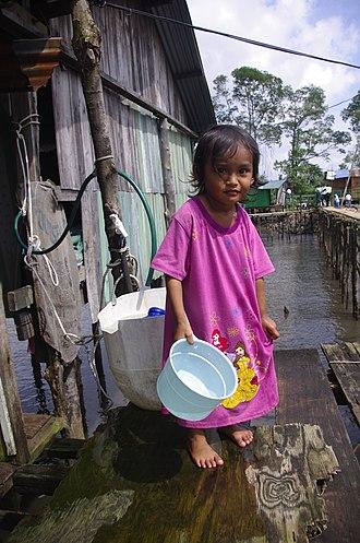 Orang Seletar - A Seletar girl in Pasir Gudang, Johor.