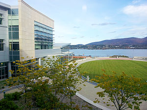 SUNY Orange - The Hudson River from Kaplan Hall, at the SUNY Orange Newburgh Campus.
