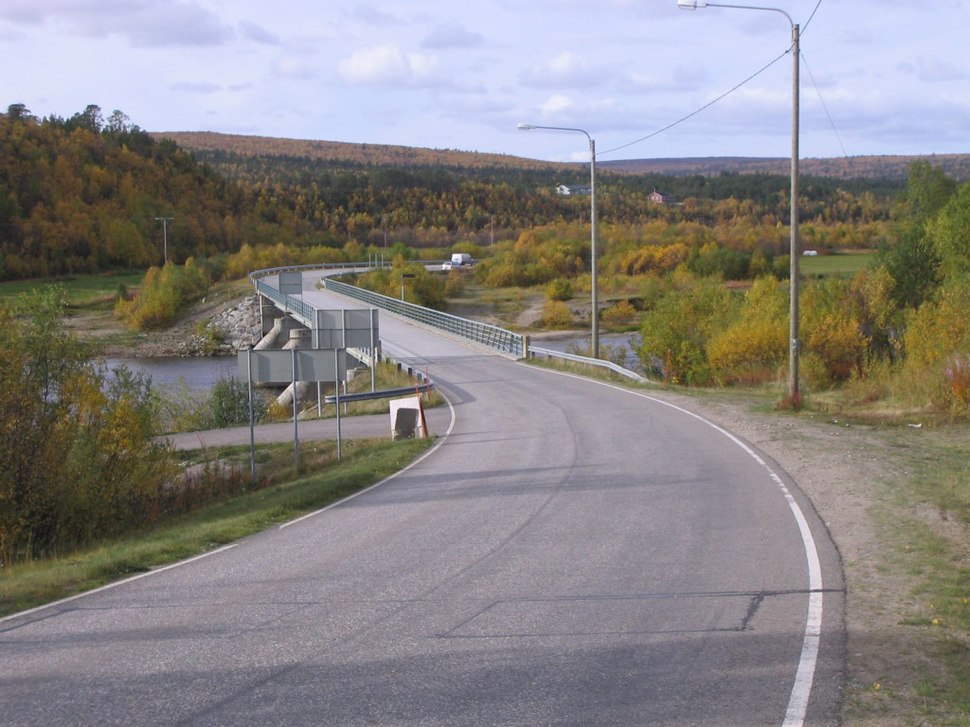 Karigasniemi Finland Bridge over Inarijoki
