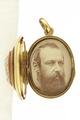 Karl XV i guldmedaljong från 1860 cirka - Livrustkammaren - 97856.tif