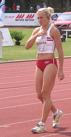 Karolina Tyminska at TNT Fortuna Meeting in Kladno 19June2008.jpg
