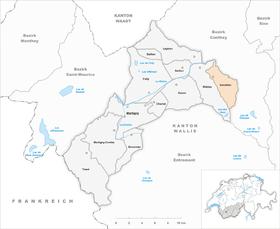 Map of Isérables
