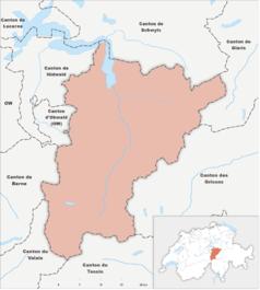 """Mapa konturowa Uri, na dole znajduje się punkt z opisem """"Andermatt"""""""