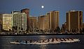 Kayakers with a Full Moon over Waikiki (5046758344).jpg