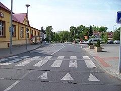 Kbely, Bakovská, od Toužimské.jpg