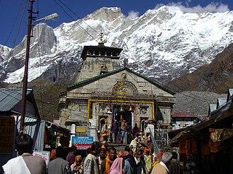 2013 North India floods - Kedarnath temple, before floods