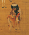 Khubilai Khan Hunting-Detail of a Hunter with Cheetah.png