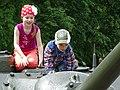 Kids on Tank Turret - Victory Square - Vitebsk - Belarus (27592765431).jpg