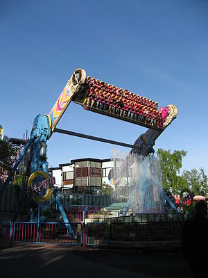 Top Spin (ride) - Kieputin at the Linnanmäki amusement park in Helsinki, Finland.