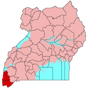 Kigezi sub-region - Kigezi (red)