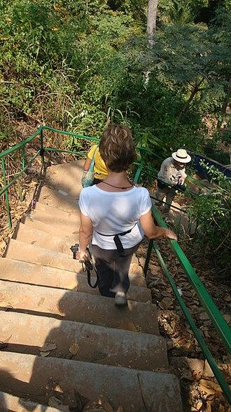 Kintampo waterfalls - Image: Kintampo waterfalls staircase