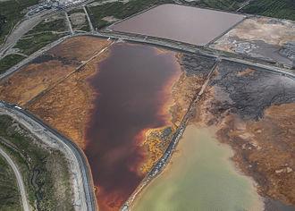 Ahtium - Gypsum pond in June 2013.