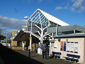 Kirkcaldy railway station - The southbound platform