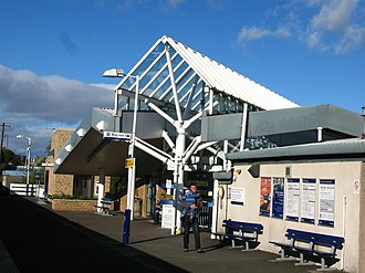 Kirkcaldy railway station - The southbound platform