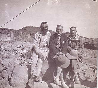 Kirsopp Lake - G. A. Barrois, Kirsopp Lake, and A. de Buck on the 1930 Harvard expedition to Serabit el-Khadim.