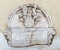 Klagenfurt Pfarrkirche hl Egid N-Seite Grabmal Wilhelm Ernau Moosheimsches Wappen 18102017 1612.jpg