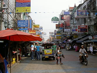 Farang - The tourist hub of Bangkok's Khaosan Road is associated with farang