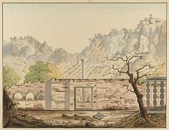 Reddy - Water colour painting – Kondavidu fort, Reddy Kingdom