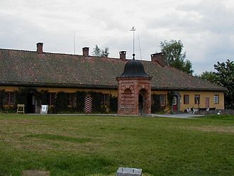 Kongsvinger Fortress - Well and old barracks at Kongsvinger Fortress.