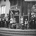 Koningin Juliana en prins Bernhard tijdens het uitspreken van de troonrede in de, Bestanddeelnr 919-5776.jpg