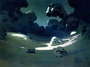 Kuindzhi Moonlight spots in a forest Winter 1898 1908.jpg