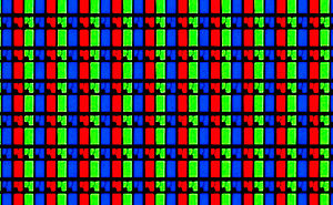 Primary color - A photograph of the red, green, and blue elements (subpixels) of an LCD.  Additive mixing explains how light from these colored elements can be used for photorealistic color image reproduction.