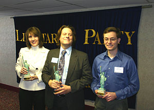 Libertarian Party of Michigan - Image: LPM 2007 Dender of Liberty Award Winners
