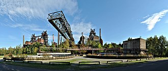 Landschaftspark Duisburg-Nord - Some of the most important structures at Landschaftspark Duisburg-Nord