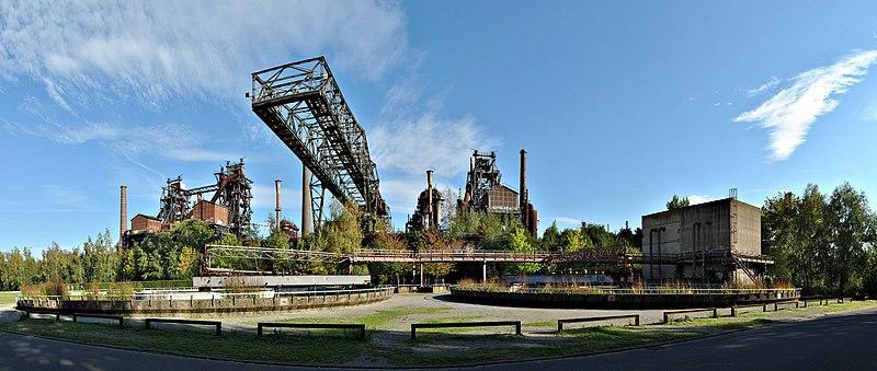Landscape structures in the Landschaftspark (Image Credit: Wikipedia)