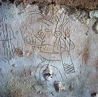 Ancient Maya graffiti - Image: La Blanca graffiti 9 enhanced