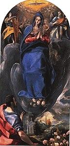 La Inmaculada Concepción vista por San Juan Evangelista (Museo de Santa Cruz de Toledo)