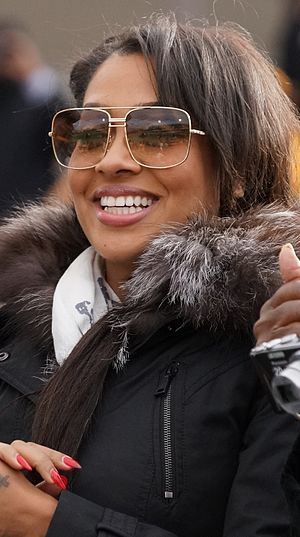 La La Anthony - Anthony at a football game, 2012