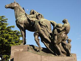 equestrian statue of Enrico dell'Acqua