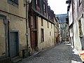 La rue derval a rennes au fond, l'eglise st sauveur - panoramio.jpg