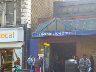 Ladbroke Grove - Entrance to Ladbroke Grove Underground station.
