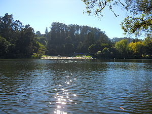 Lake Anza - Image: Lake Anza Beach
