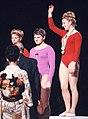 Larisa Latynina, Birgit Radochla, Věra Čáslavská 1964.jpg