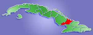 Location of Las Tunas Province in Cuba