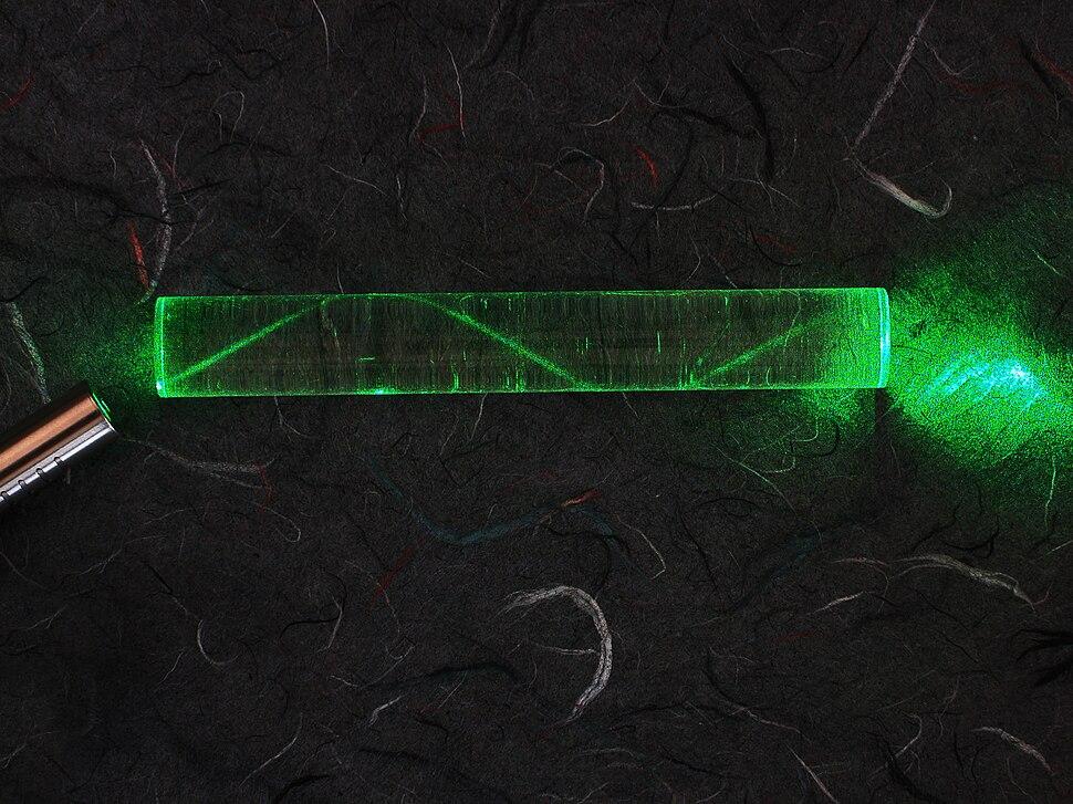 Laser in fibre