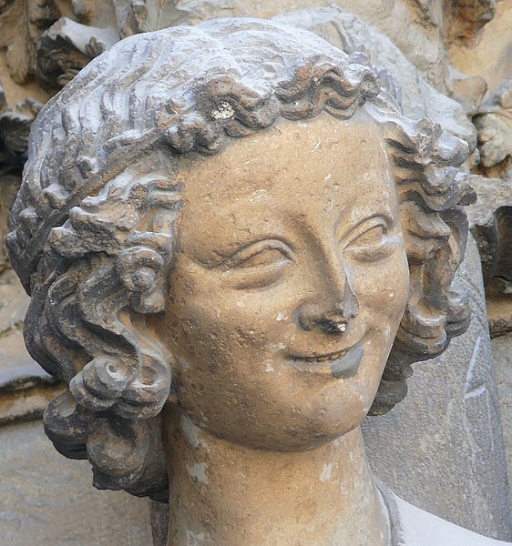 Fichier:Laughing angel Reims.jpg