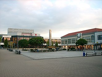 Hoyerswerda - View at the New Town's Lusatian Square (Laustizer Platz)