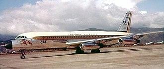 Civil Air Transport - 1966 photo of a CAT Convair 880 at Taipei Songshan Airport