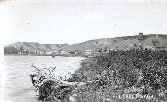 Qu'Appelle River - Qu'Appelle Indian Residential School on Mission Lake, 1921