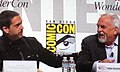 Lee Unkrich & John Ratzenberger at WonderCon 2010 4.JPG