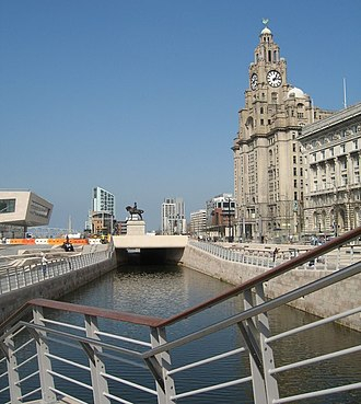 Liverpool Canal Link - Liverpool Canal Link passing through the Pier Head