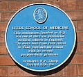 Leeds School of Medicine blue plaque 26 June 2018.jpg