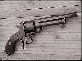 LeMat Revolver - Modern reproduction of a LeMat cap and ball Revolver.