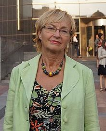 Lena Kolarska-Bobinska, outside the European Parliament (cropped).JPG